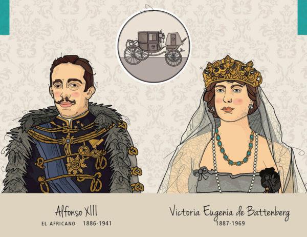 Alfonso XIII - Victoria Eugenia de Battenberg